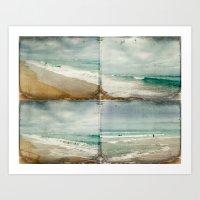Sea and Waves mosaic Art Print