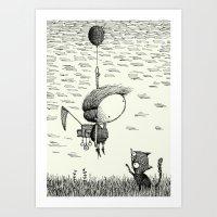 balloon Art Prints featuring 'Balloon' by Alex G Griffiths