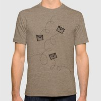 Spin a Message  Mens Fitted Tee Tri-Coffee SMALL