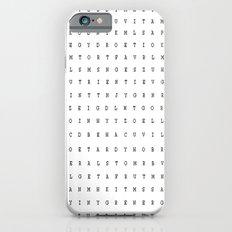 word seach iPhone 6 Slim Case