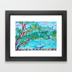 A Denman View Framed Art Print