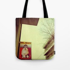 Dog and Beauty Tote Bag