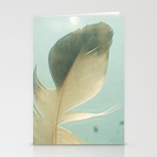 Grey Feather Stationery Card