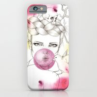 iPhone & iPod Case featuring Bubble Birdie by Camis Gray