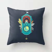 Aquatic Adventurer Throw Pillow