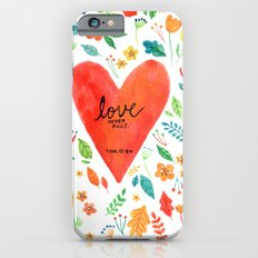 Love never fails Slim Case iPhone 6s