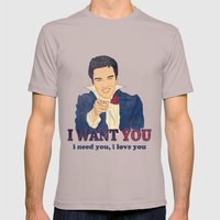 I Want You Mens Fitted Tee Cinder SMALL