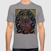DJ Octopus Neon V1 Mens Fitted Tee Tri-Grey SMALL