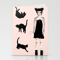 Augustine and cats Stationery Cards