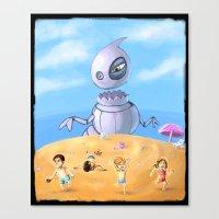 Giant robo dino Canvas Print