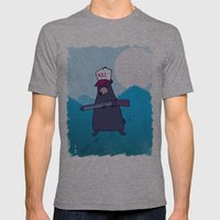 Open Season Mens Fitted Tee Athletic Grey SMALL