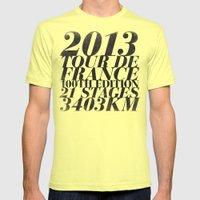 2013 Tour de France: Maillot Jaune Mens Fitted Tee Lemon SMALL