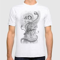 Astro Babe B&W Mens Fitted Tee Ash Grey SMALL