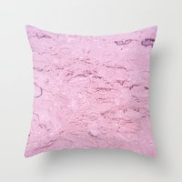 Marble - Pink Throw Pillow