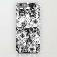 iPhone & iPod Case featuring just cats by Sharon Turner