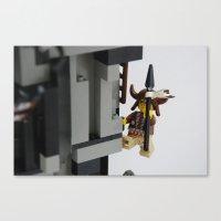 Lego Indian Climbing Canvas Print