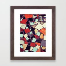 Colorful Abstract Mosaic No.2 Framed Art Print