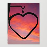 Love Sunset Canvas Print