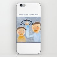 A Lesson On A Rainy Day iPhone & iPod Skin