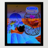 Fish Tales Art Print