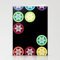 Colorful Snowflake Print… Stationery Cards