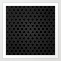 BlackPolka Dots G61 Art Print