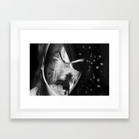 Follow me in the wood... Framed Art Print