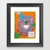 Hedgehog Party Framed Art Print