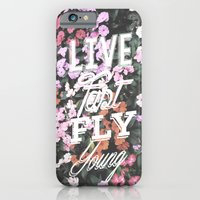 iPhone & iPod Case featuring Live Fast Fly Young by BTP Designs