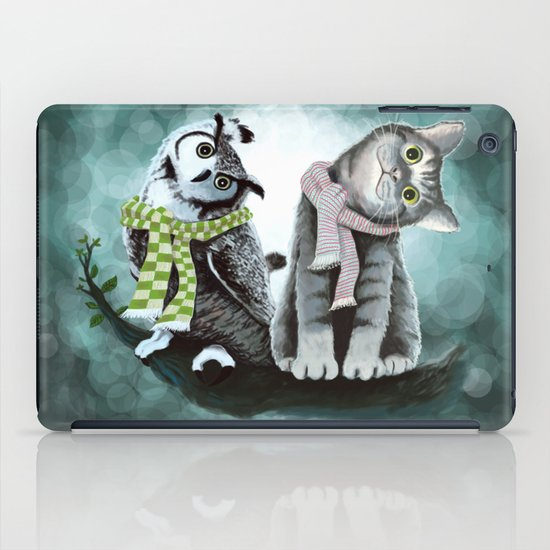 Cat and Owl iPad Case