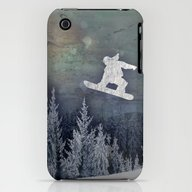 iPhone & iPod Case featuring The Snowboarder by Amanda Royale