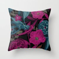 Dark Garden Throw Pillow