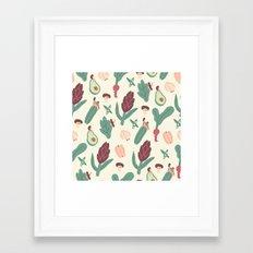 Girls love vegetables Framed Art Print