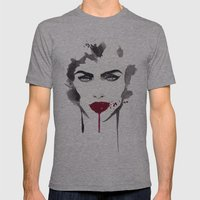 True Blood Mens Fitted Tee Athletic Grey SMALL
