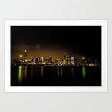 Chicago at Night Art Print