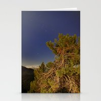 Sirius And Orion Over Th… Stationery Cards