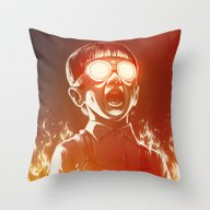 Throw Pillow featuring FIREEE! by Dr. Lukas Brezak