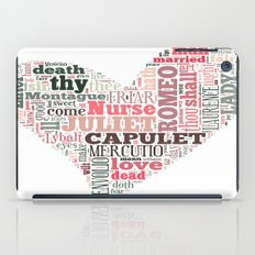 Shakespeare's Romeo and Juliet Heart iPad Case