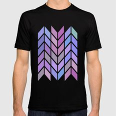 blue & purple chevron Mens Fitted Tee Black SMALL