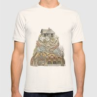 Sweet Home I // Forest Illustration Mens Fitted Tee Natural SMALL