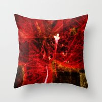 Astral flower Throw Pillow
