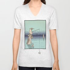 Fishing Unisex V-Neck