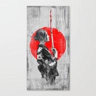 Canvas Print featuring Samurai Girl by MUSENYO