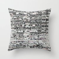 Removing Filters (P/D3 Glitch Collage Studies) Throw Pillow