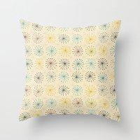 seedheads cream Throw Pillow