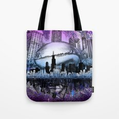 Chicago City Skyline Tote Bag