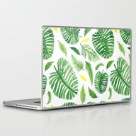 Palm Leaf Pattern Laptop & iPad Skin