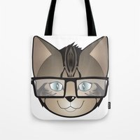 Tabby Glasses Tote Bag