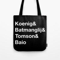 Helvetica Weekend  Tote Bag