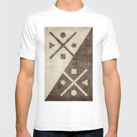 Geometric Exploration 2 Mens Fitted Tee White SMALL